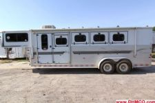 #A4763 - Used 2001 Sundowner 7440LQ 4 Horse Trailer  with 4' Short Wall