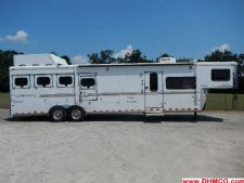 #A1849 - Used 2004 Sundowner 8412LQ Sierra 4 Horse Trailer  with 12' Short Wall
