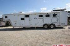 #17880 - Used 2003 Exiss 8310LQ 3 Horse Trailer  with 10' Short Wall