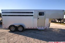 #B0401 - New 2015 Sundowner SS4HGN 4 Horse Trailer  with 2' Short Wall