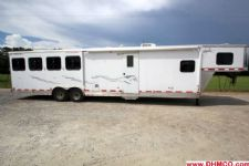 #31632 - Used 2007 Merhow 8414GLQ 4 Horse Trailer  with 14' Short Wall