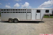 #97153 - Used 2004 Dreamcoach Stock Stock Trailer  with 6' Short Wall