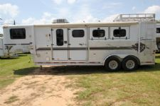 #A0634 - Used 1998 Sundowner 7307LQ 3 Horse Trailer  with 7' Short Wall