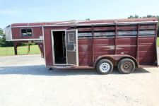 #37461 - Used 2006 Ponderosa Stock Stock Trailer  with 4' Short Wall