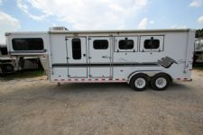 #A5710 - Used 1999 Sundowner Valuelite 3HSLGN 3 Horse Trailer  with 6' Short Wall