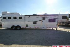 #00843 - New 2015 Lakota Charger 8415GLQ 4 Horse Trailer  with 15' Short Wall