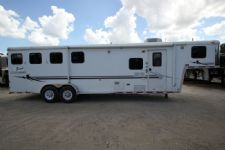 #08039 - Used 2006 Bison 7480GLQ 4 Horse Trailer  with 8' Short Wall