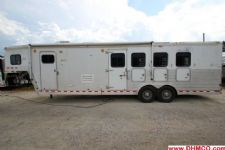 #43596 - Used 2003 Kiefer Built 7410LQ 4 Horse Trailer  with 10' Short Wall