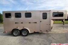 #48849 - Used 2008 Titan Classic 3HSLGN 3 Horse Trailer  with 2' Short Wall