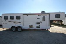#04749 - New 2015 Bison Trail Hand 7380LQ 3 Horse Trailer  with 8' Short Wall