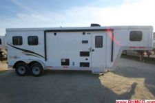 #04750 - New 2015 Bison Trail Boss 7208LQ 2 Horse Trailer  with 8' Short Wall