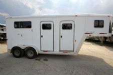 #06021 - Used 2002 Exiss 2HSSGN 2 Horse Trailer  with 4' Short Wall