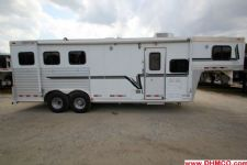 #05223 - Used 2003 Cherokee 8380LQ 3 Horse Trailer  with 8' Short Wall