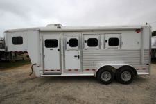 #51261 - Used 2008 Hart 7340GN 3 Horse Trailer  with 4' Short Wall