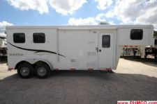#04687 - New 2015 Bison Trail Hand 7260LQ 2 Horse Trailer  with 6' Short Wall