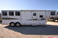 #87940 - Used 2008 Lakota 8308LQ 3 Horse Trailer  with 8' Short Wall