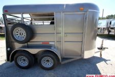#00283 - Used 2009 Calico 2 Horse 2 Horse Trailer  with 2' Short Wall