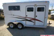 #17993 - Used 2003 Exiss SS20RP 2 Horse Trailer  with 4' Short Wall