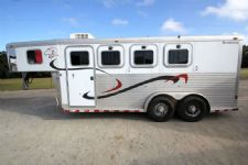 #00713 - Used 2001 Sooner 3H Revolution 3 Horse Trailer  with 4' Short Wall