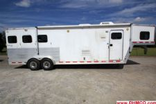 #45457 - Used 2004 Kiefer Built 7311LQ 3 Horse Trailer  with 11' Short Wall
