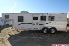 #01264 - Used 2006 Cherokee Tomahawk 7380LQ 3 Horse Trailer  with 8' Short Wall