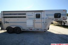 #23205 - Used 1994 Sidekick 7340LQ 3 Horse Trailer  with 4' Short Wall