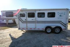 #00634 - Used 2000 Dreamcoach 3HSLGN 3 Horse Trailer  with 4' Short Wall