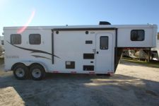 #04814 - New 2015 Bison Trail Hand 7260LQ S 2 Horse Trailer  with 6' Short Wall