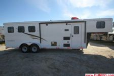 #04818 - New 2015 Bison Trail Hand 7380LQ 3 Horse Trailer  with 8' Short Wall