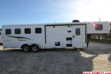 #04821 - New 2015 Bison Trail Hand 7480LQ 4 Horse Trailer  with 8' Short Wall