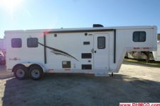 #04824 - New 2015 Bison Trail Boss 7208LQ 2 Horse Trailer  with 8' Short Wall