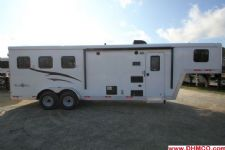 #04826 - New 2015 Bison Trail Boss 7380LQ 3 Horse Trailer  with 8' Short Wall