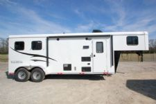 #04897 - New 2015 Bison Trail Hand 7280LQ 2 Horse Trailer  with 8' Short Wall