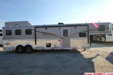 #04831 - New 2015 Bison Ranger 8312GLQ 3 Horse Trailer  with 12' Short Wall