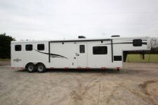 #04899 - New 2015 Bison Ranger 8314LQSD 3 Horse Trailer  with 14' Short Wall