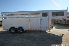 #B0883 - New 2015 Sundowner RANCHER20GNTR Stock Trailer  with 4' Short Wall