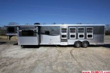 #01053 - New 2015 Lakota Charger 8415GLQ 4 Horse Trailer  with 15' Short Wall