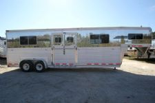 #14288 - Used 2008 Eby 4H Head to Head Stock Trailer