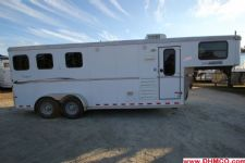 #A5287 - Used 2011 Sundowner 6906 LQ 3 Horse Trailer  with 6' Short Wall