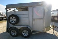 #01080 - Used 2002 Longhorn  2 Horse Trailer  with 2' Short Wall