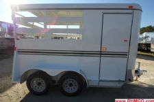 #77925 - Used 2014 Dixie Tuff 2HBPSL 2 Horse Trailer  with 2' Short Wall