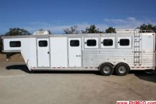 #56864 - Used 2002 CM 7360LQ 3 Horse Trailer  with 10' Short Wall