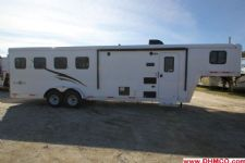 #04995 - New 2015 Bison Trail Boss 7408LQ 4 Horse Trailer  with 8' Short Wall