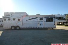 #01131 - Used 2004 Platinum 8417LQ 4 Horse Trailer  with 17' Short Wall