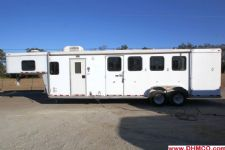 #51690 - Used 2007 Kiefer Built 7409LQ 4 Horse Trailer  with 9' Short Wall