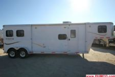 #00170 - Used 2009 Bison Stratus 7210LQ 2 Horse Trailer  with 10' Short Wall