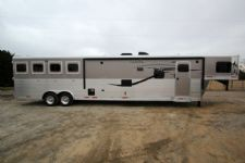 #01097 - New 2015 Lakota 8417 Super Slide LQ 4 Horse Trailer  with 17' Short Wall