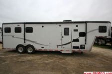 #00287 - Used 2013 Hoosier Maverick 8309LQ 3 Horse Trailer  with 9' Short Wall