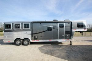 #01146 - New 2015 Lakota Charger 8311GLQ 3 Horse Trailer  with 11' Short Wall