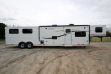 #01147 - New 2015 Lakota Charger 8415GLQ 4 Horse Trailer  with 15' Short Wall